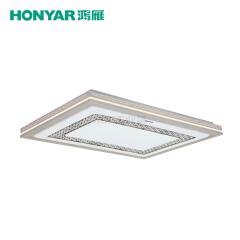 鸿雁 素明系列LED方形吸顶灯,130W,三段调色温;93805377
