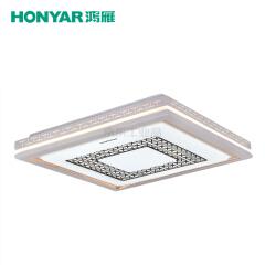 鸿雁 素明系列LED方形吸顶灯,58W,三段调色温;93805378