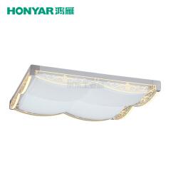 鸿雁 零边系列LED方形吸顶灯,58W,三段调色温;93805389