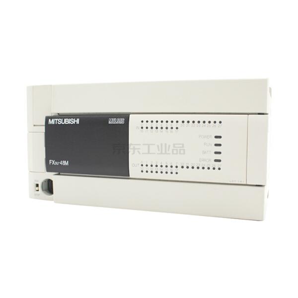 三菱 FX3U系列基本单元,内置24入/24出(继电器) ,AC电源;FX3U-48MR/ES-A