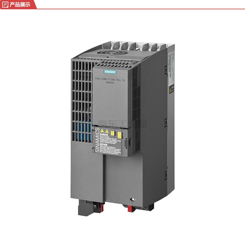 西门子 紧凑型变频器,不带内置滤波器 轻载15kW/重载11kW AC380-480V;6SL32101KE232UF1