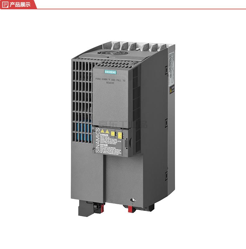 西门子 紧凑型变频器,不带内置滤波器 轻载11kW/重载7.5kW AC380-480V;6SL32101KE226UF1