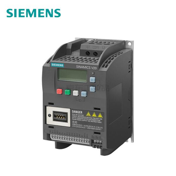 西门子 SINAMICS V20 3AC 380V变频器,无内置滤波器,1台/箱 0.37kW AC380-480V;6SL3210-5BE13-7UV0
