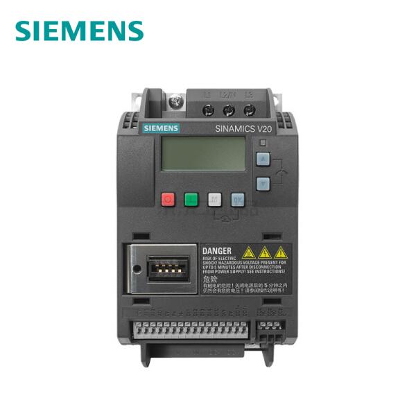 西门子 SINAMICS V20 3AC 380V变频器,无内置滤波器,1台/箱 1.1kW AC380-480V;6SL3210-5BE21-1UV0