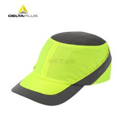 代尔塔 透气型防撞安全帽 劳保防护安全帽 尼龙材质(荧光黄),20个/箱;102110-荧光黄