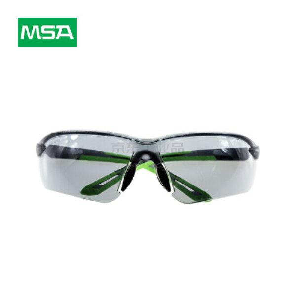 MSA梅思安 炫酷-G防护眼镜,黑色镜片,浅绿色镜脚,12付/盒;10167734