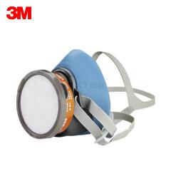 3M 电商版HF-52单罐硅胶尘毒套装(HF-52面罩,3301CN滤毒盒,3N11CN预过滤棉*1,385滤棉盖,389吸汗垫);XY003879356