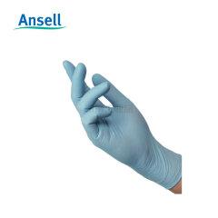 Ansell安思尔 蓝色无粉丁腈可接触食物手套(XL) 0.07mm厚,240mm长;93-833-XL