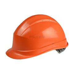 代尔塔 PP安全帽,绝缘织衬按钮,通风透气防砸(橙色);102008-橙色(需另配下颚带)