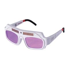 巨立 电焊眼镜 白色,镜框自动变光,氩弧;A-8005