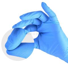 英科一次性蓝色丁腈检查手套 标准型(3.5g)M码,100只/盒;YK-BDJ3.5-M