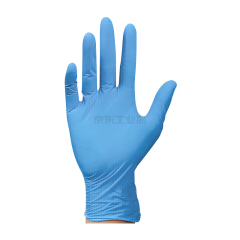 爱马斯(AMMEX) 一次性加厚型蓝色丁腈手套(蓝色),无粉,小号,100只/盒,10盒/箱;APFGWCHD42100