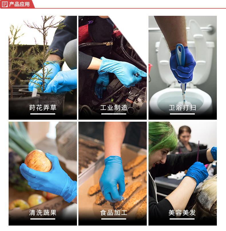 爱马斯(AMMEX) 一次性耐用型丁腈手套(深蓝色),无粉,中号,50只/盒;APFNCHD4450
