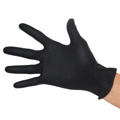 爱马斯(AMMEX) 一次性丁腈手套(黑色),无粉,中号,100只/盒,10盒/箱;GPNBC44100