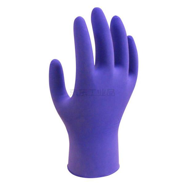 赛立特 3g一次性射光蓝色无粉丁腈,手指麻面手套 ,盒装,8码;DN6106-8