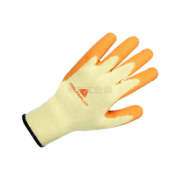 代尔塔 乳胶涂层抗撕裂手套 VE730;201730-黄橙色-9