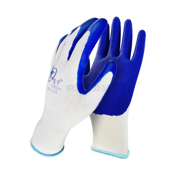星宇 十三针白尼龙丁腈手套,颜色:白尼龙兰,尺码:M;N518