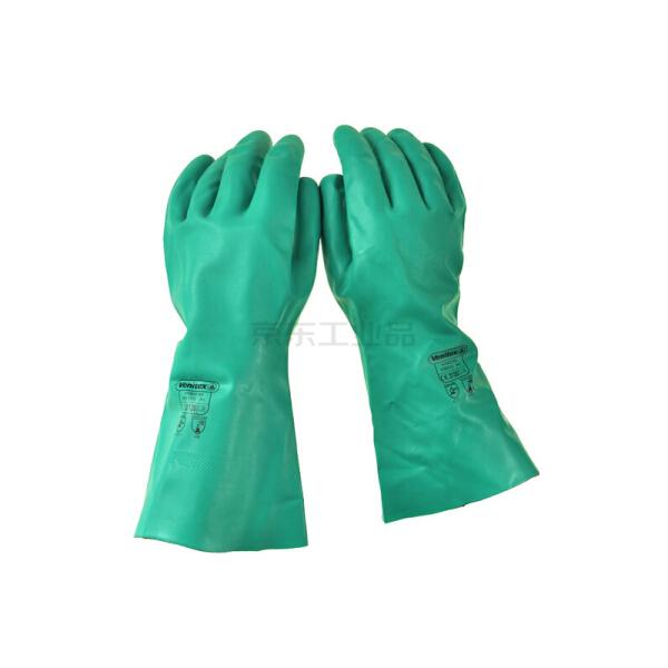 代尔塔 中型丁腈手套 VE802;201802-绿色-9