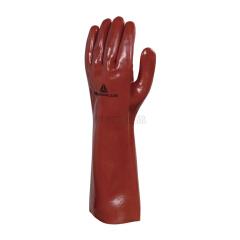 代尔塔 PVC防化手套 PVCC400,12双/打,10打/箱;201402-红色