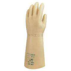 代尔塔 天然乳胶绝缘手套,工作电压5KV(淡黄色);207001-10
