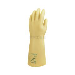 代尔塔 天然乳胶绝缘手套,工作电压10KV(黄色);207002-10