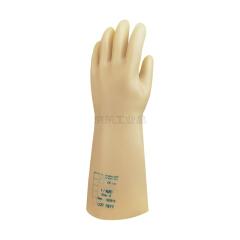 代尔塔 天然乳胶绝缘手套,工作电压5KV(淡黄色);207001-9
