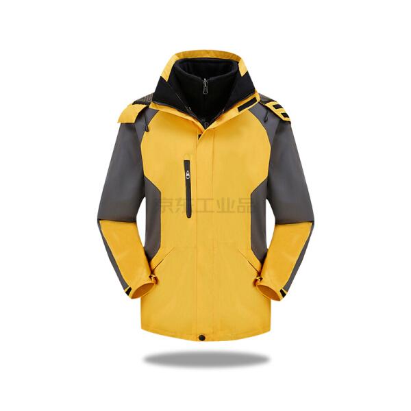 虹薇 冲锋衣,黑色内胆(黄色)L码;1027-黄色-L