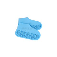 KeyRu 防水鞋套 加厚耐磨-S蓝色