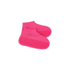 KeyRu 防水鞋套 加厚耐磨-S粉色