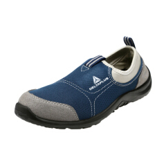 代尔塔 松紧系列S1P安全鞋,防砸防静电防刺穿,灰色+蓝色42;301216-灰色-蓝色-42