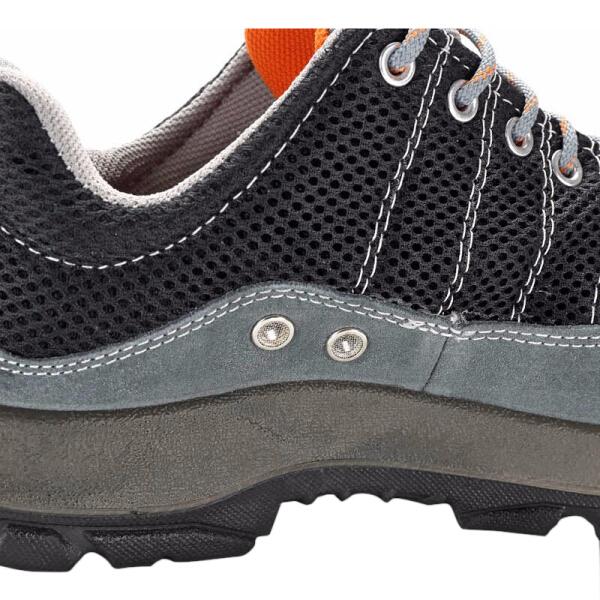 代尔塔彩虹系列劳保鞋 防砸防静电防刺穿 钢包头透气安全鞋 灰色黑色41