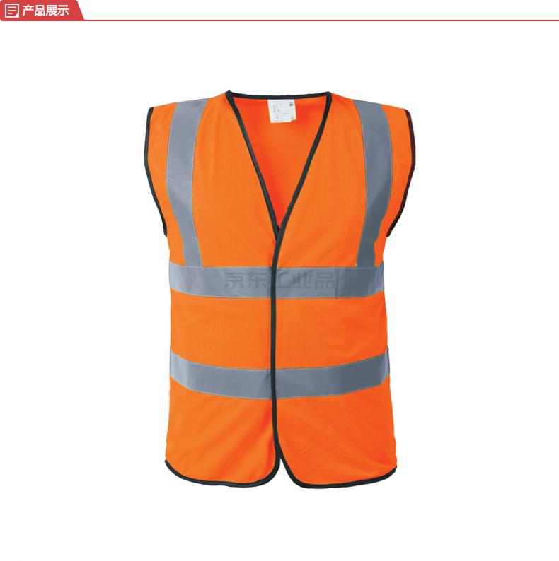 博迪嘉 反光背心 魔术贴款 荧光橘红色 M码;CN028-M