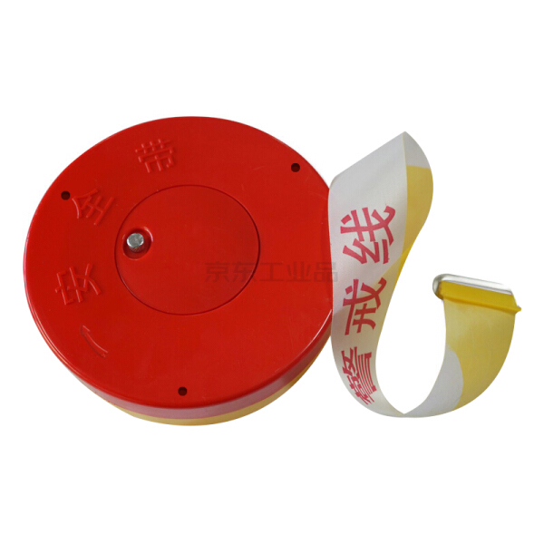 安赛瑞(SAFEWARE) 盒装警示隔离带(警戒线)-ABS塑料外壳,尼龙布隔离带,50mm×100m;11115