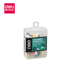 得力(deli) 彩色工字钉(混)(35枚/盒);0021混