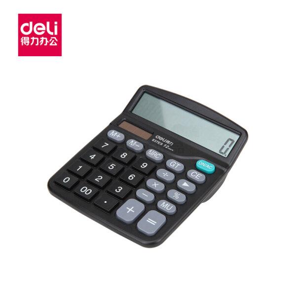 得力(deli) 桌面计算器(黑);837ES黑