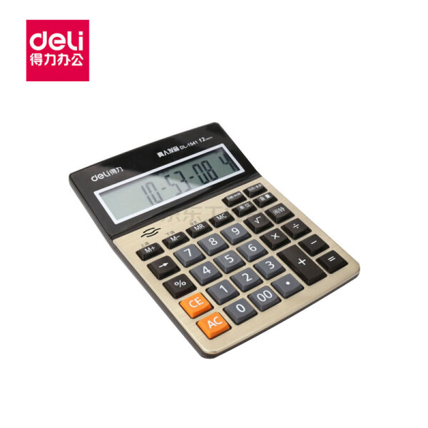 得力(deli) 语音计算器(金色);1541A金