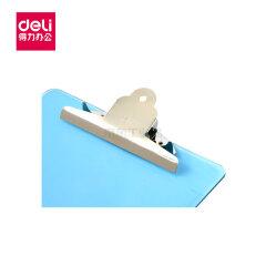 得力(deli) 透明书写板夹(浅蓝);9252浅蓝
