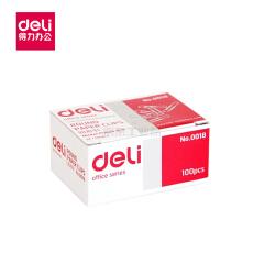 得力(deli) 回形针 金属曲别针 办公曲别针 钢芯材质(100枚/盒)