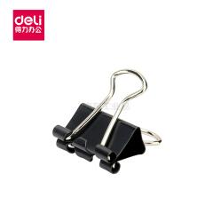 得力(deli) 8566-6黑色长尾票夹15mm筒装(黑)(60只/筒);8566黑