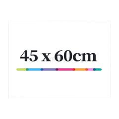 得力(deli) 50007软铁白板600*450*0.5mm(带胶)(白色);50007白