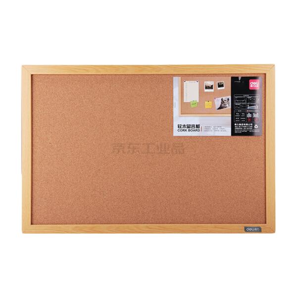 得力(deli) 软木留言板600X400(浅黄色),16块/箱;8762