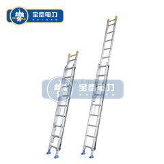 宝富电力 铝合金单面升降梯,二连式伸缩梯;RLAE-100