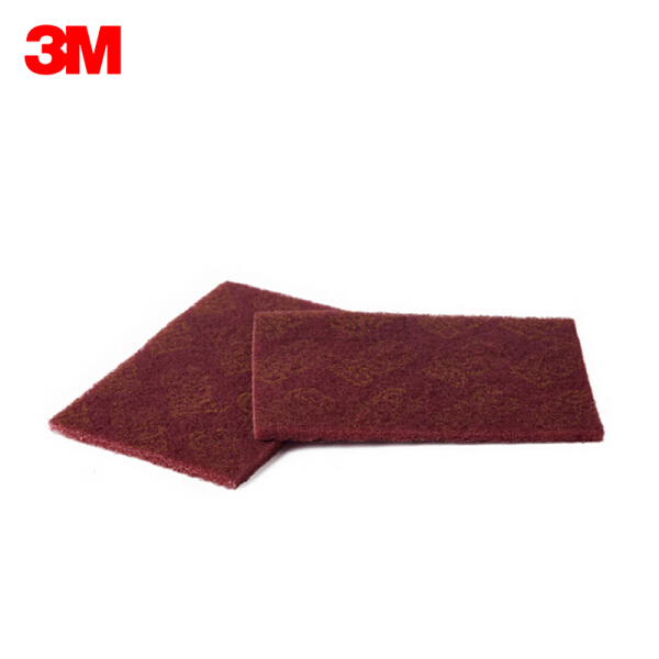 3M 7447 工业百洁布,60片/箱;7447 6寸×9寸(145×230mm)红
