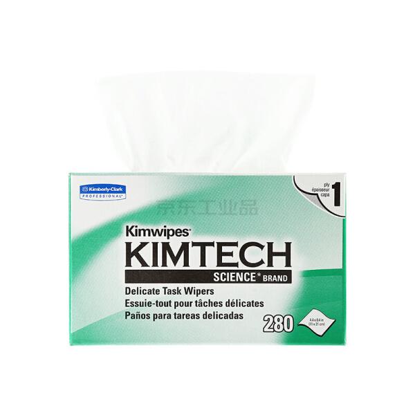 金佰利 金特KIMTECH 工业低尘盒装抽取擦拭纸(小号单层) 280张/盒 60盒/箱;34155