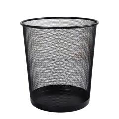 锋火 黑色金属烤漆 圆形钢丝网垃圾桶