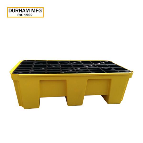 DURHAM MFG DHM聚乙烯双桶盛漏托盘1320×660×420mm  黄色;DHM.90001