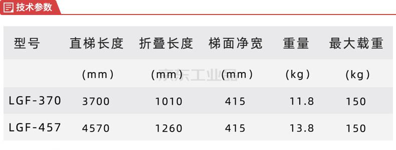 郑兴安 铝合金多功能梯;LGF-370