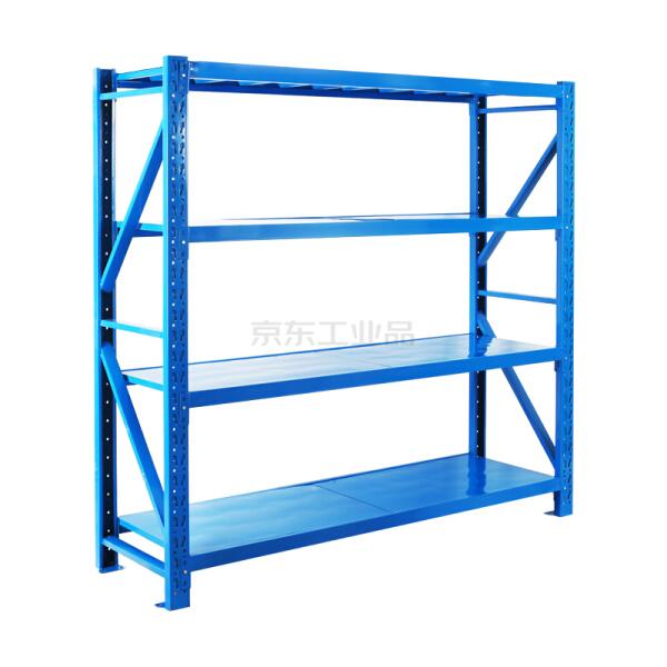 惠象 蓝色轻型货架主架,承重100KG;2000*500*2000*4层(1层2块层板)