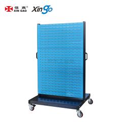 信高 移动型双面物料整理架(6百叶);KM-2306