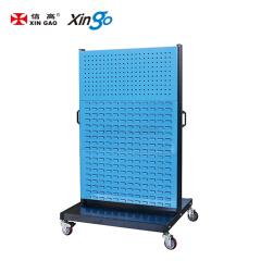 信高 移动型双面物料整理架(2方孔4百叶);KM-2324
